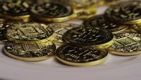 Tiro rotativo de Bitcoins (cryptocurrency digital) - BITCOIN 0410