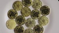 Plan tournant de Bitcoins (crypto-monnaie numérique) - BITCOIN 0334