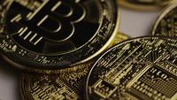 Tiro rotativo de Bitcoins (cryptocurrency digital) - BITCOIN 0398