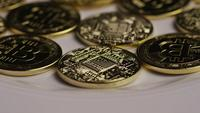 Tiro giratorio de Bitcoins (criptomoneda digital) - BITCOIN 0364