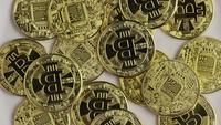 Tiro giratorio de Bitcoins (criptomoneda digital) - BITCOIN 0378