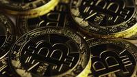 Roterande skott av Bitcoins (Digital Cryptocurrency) - BITCOIN 0308