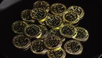 Tiro rotativo de Bitcoins (cryptocurrency digital) - BITCOIN 0540