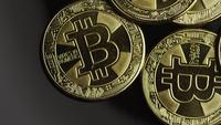 Tiro rotativo de Bitcoins (cryptocurrency digital) - BITCOIN 0534
