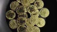 Tiro rotativo de Bitcoins (cryptocurrency digital) - BITCOIN 0572