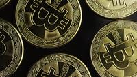 Tiro rotativo de Bitcoins (cryptocurrency digital) - BITCOIN 0461