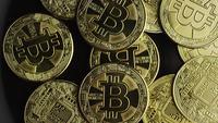 Tiro rotativo de Bitcoins (cryptocurrency digital) - BITCOIN 0574