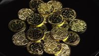 Tiro rotativo de Bitcoins (cryptocurrency digital) - BITCOIN 0586