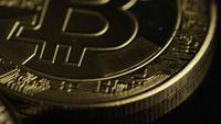 Tiro rotativo de Bitcoins (cryptocurrency digital) - BITCOIN 0480