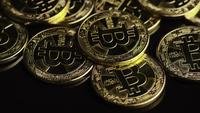 Tiro rotativo de Bitcoins (cryptocurrency digital) - BITCOIN 0546