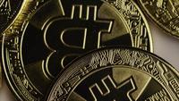Tiro rotativo de Bitcoins (cryptocurrency digital) - BITCOIN 0384