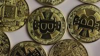 Tiro giratorio de Bitcoins (criptomoneda digital) - BITCOIN 0339