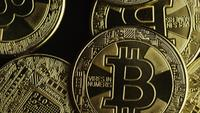 Roterande skott av Bitcoins (Digital Cryptocurrency) - BITCOIN 0578