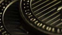 Rotating shot of Bitcoins (digital cryptocurrency) - BITCOIN LITECOIN 252