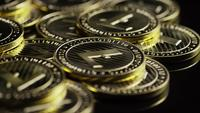 Rotating shot of Bitcoins (digital cryptocurrency) - BITCOIN LITECOIN 261