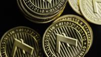 Rotating shot of Bitcoins (digital cryptocurrency) - BITCOIN LITECOIN 344