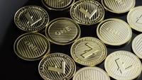 Rotating shot of Bitcoins (digital cryptocurrency) - BITCOIN LITECOIN 281
