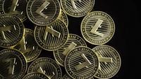Roterande skott av Bitcoins (digital cryptocurrency) - BITCOIN LITECOIN 226