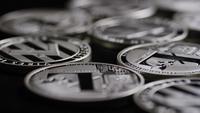 Roterande skott av Bitcoins (Digital Cryptocurrency) - BITCOIN LITECOIN 528