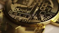 Roterande skott av Bitcoins (Digital Cryptocurrency) - BITCOIN MONERO 114