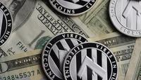 Roterande skott av Bitcoins (Digital Cryptocurrency) - BITCOIN LITECOIN 595