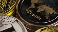 Roterande skott av Bitcoins (Digital Cryptocurrency) - BITCOIN MIXED 031