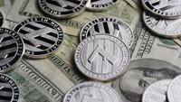 Roterande skott av Bitcoins (Digital Cryptocurrency) - BITCOIN LITECOIN 609