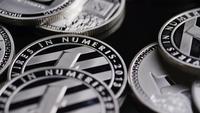 Roterande skott av Bitcoins (Digital Cryptocurrency) - BITCOIN LITECOIN 547