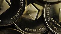 Roterande skott av Bitcoins (Digital Cryptocurrency) - BITCOIN ETHEREUM 138