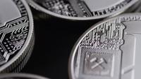 Roterande skott av Bitcoins (digital cryptocurrency) - BITCOIN LITECOIN 457