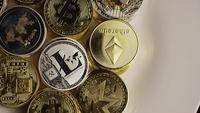 Plan tournant de Bitcoins (crypto-monnaie numérique) - BITCOIN MIXED 003