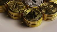 Roterande skott av Bitcoins (Digital Cryptocurrency) - BITCOIN MIXED 019
