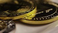 Roterande skott av Bitcoins (Digital Cryptocurrency) - BITCOIN MIXED 091