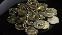 Roterende opname van Bitcoins (digitale cryptocurrency) - BITCOIN LITECOIN 312