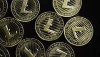 Roterende opname van Bitcoins (digitale cryptocurrency) - BITCOIN LITECOIN 191