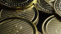 Roterende opname van Bitcoins (digitale cryptocurrency) - BITCOIN LITECOIN 323