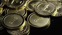 Rotating shot of Bitcoins (digital cryptocurrency) - BITCOIN LITECOIN 317