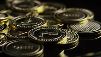 Rotating shot of Bitcoins (digital cryptocurrency) - BITCOIN LITECOIN 328