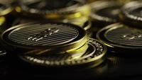 Rotating shot of Bitcoins (digital cryptocurrency) - BITCOIN LITECOIN 332