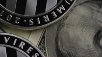 Rotating shot of Bitcoins (digital cryptocurrency) - BITCOIN LITECOIN 602
