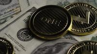 Rotating shot of Bitcoins (digital cryptocurrency) - BITCOIN LITECOIN 581