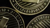Rotating shot of Bitcoins (digital cryptocurrency) - BITCOIN LITECOIN 198