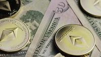 Rotating shot of Bitcoins (digital cryptocurrency) - BITCOIN ETHEREUM 209
