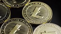 Rotating shot of Bitcoins (digital cryptocurrency) - BITCOIN LITECOIN 208