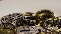 Roterande skott av Bitcoins (Digital Cryptocurrency) - BITCOIN MIXED 086