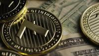Rotating shot of Bitcoins (digital cryptocurrency) - BITCOIN LITECOIN 579