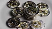 Roterande skott av Bitcoins (Digital Cryptocurrency) - BITCOIN RIPPLE 0068