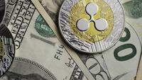 Roterande skott av Bitcoins (Digital Cryptocurrency) - BITCOIN RIPPLE 0226