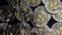 Roterande skott av Bitcoins (Digital Cryptocurrency) - BITCOIN RIPPLE 0104