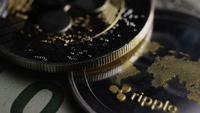 Roterande skott av Bitcoins (Digital Cryptocurrency) - BITCOIN RIPPLE 0309